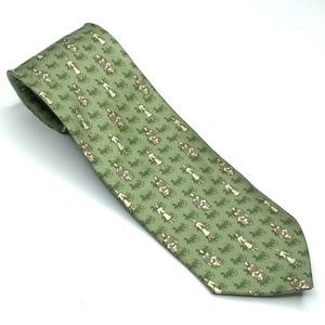 VINTAGE | Fortune Art Life Asian Horse Tie Green